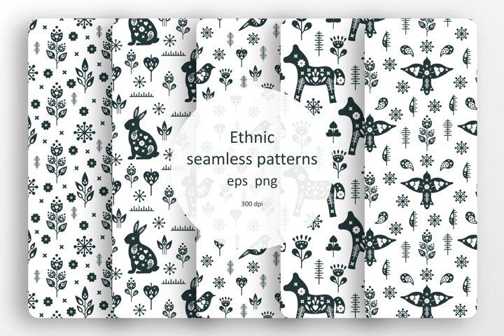 Set of 5 ethnic patterns
