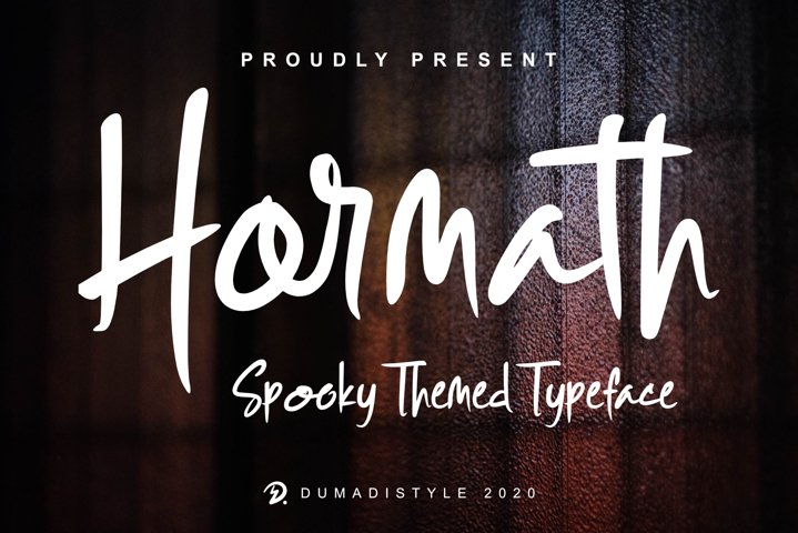 Hormath - Spooky Themed Typeface