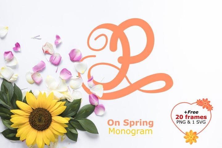 Monogram on spring