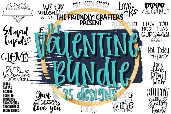 Valentines Day Bundle - A Bundle of 25 Valentine SVGs