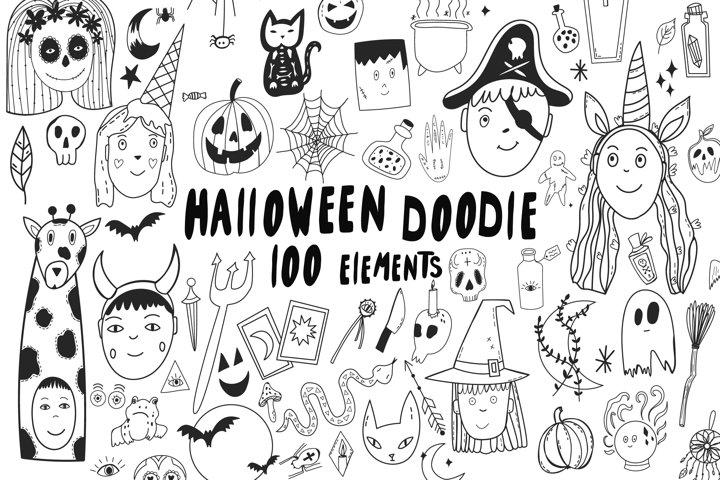 Halloween doodle clipart. Halloween clipart svg