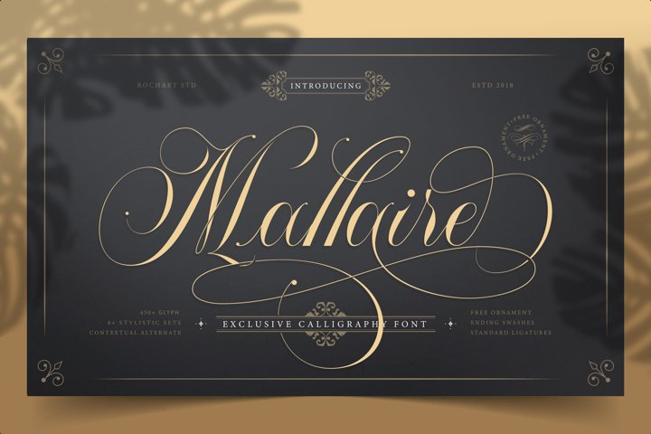 Mallaire Exclusive Calligraphy Font