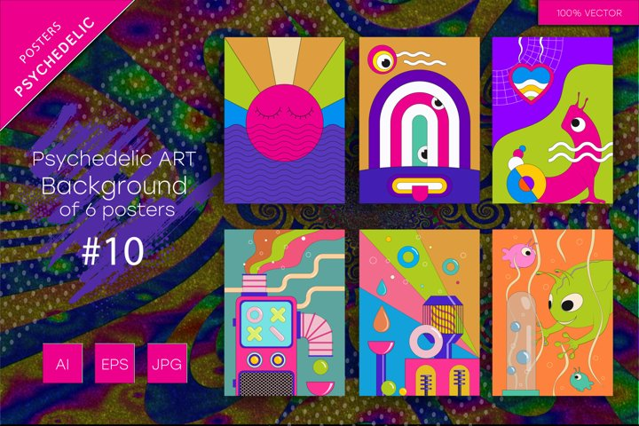 Psychedelic ART backgrounds #10