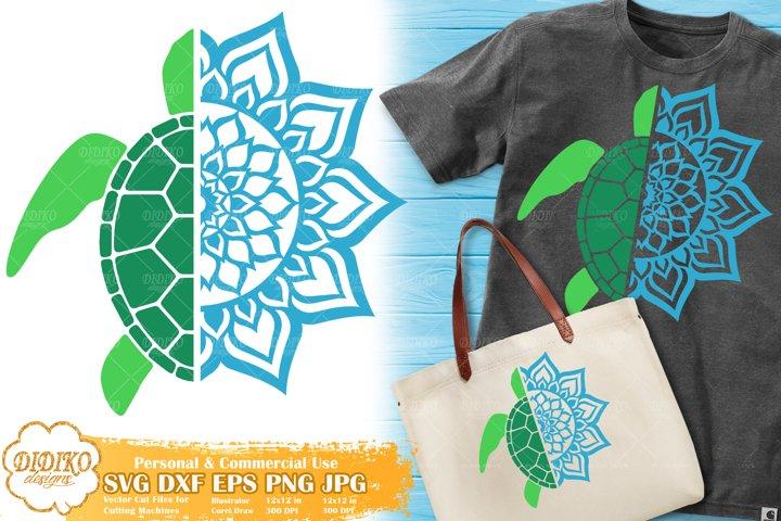 Sea Turtle SVG | Turtle Mandala SVG |Animal Mandala SVG File