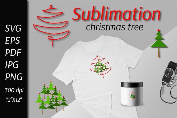 Christmas tree SVG Cut File, Christmas Sublimation