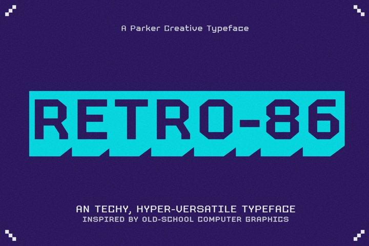 RETRO-86 - Classic Computer Typeface