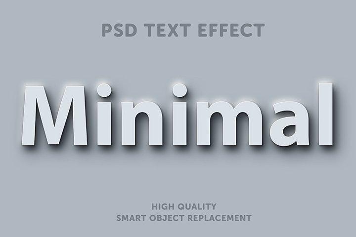 White minimal text effect