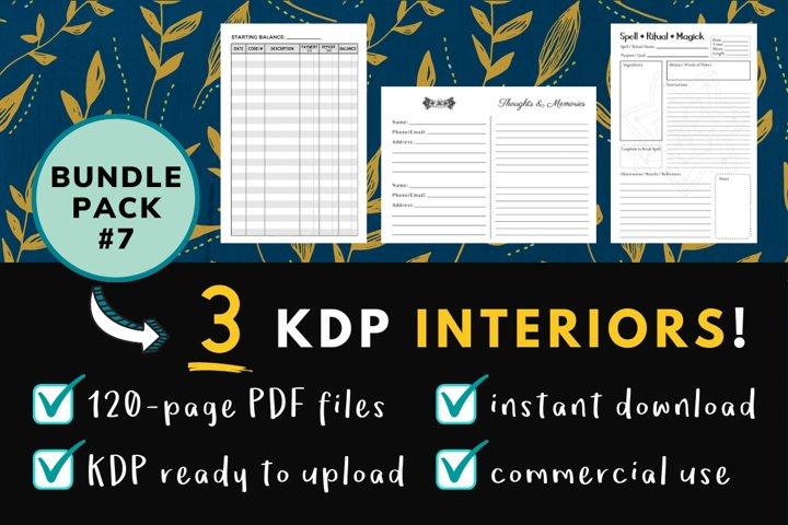 KDP Interior Pack #7 - 3 Templates!