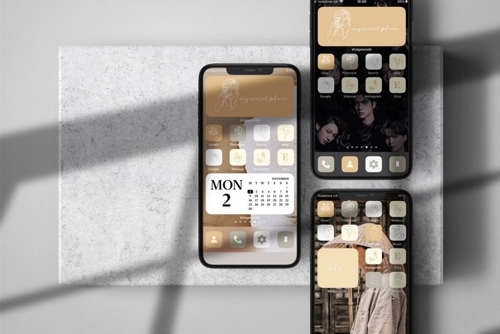 BTS home screen iOS 14 icons