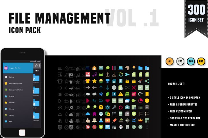 300 File Management System - Icon pack