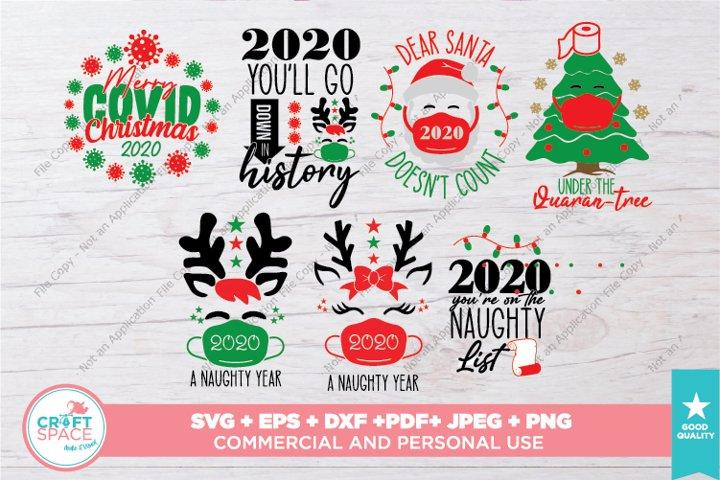 Christmas 2020, Christmas Quarantine SVG, PDF, EPS AND MORE