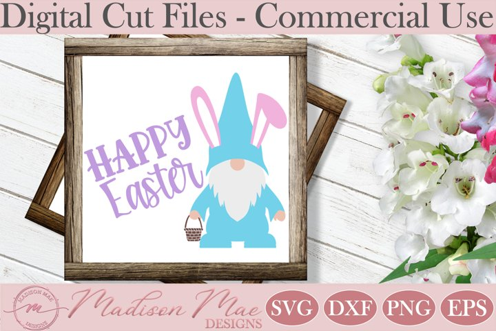 Easter Bunny Gnome With Basket SVG, Happy Easter Cut File