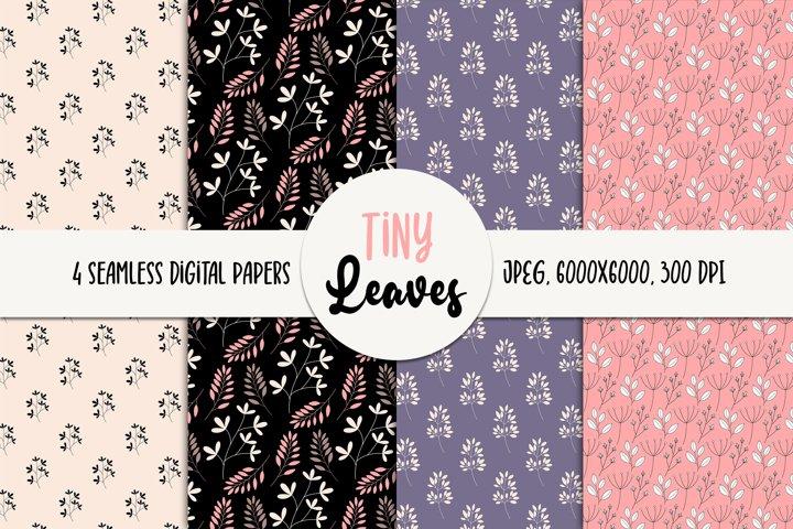 Leaves Seamless Digital Paper - Floral Patterns