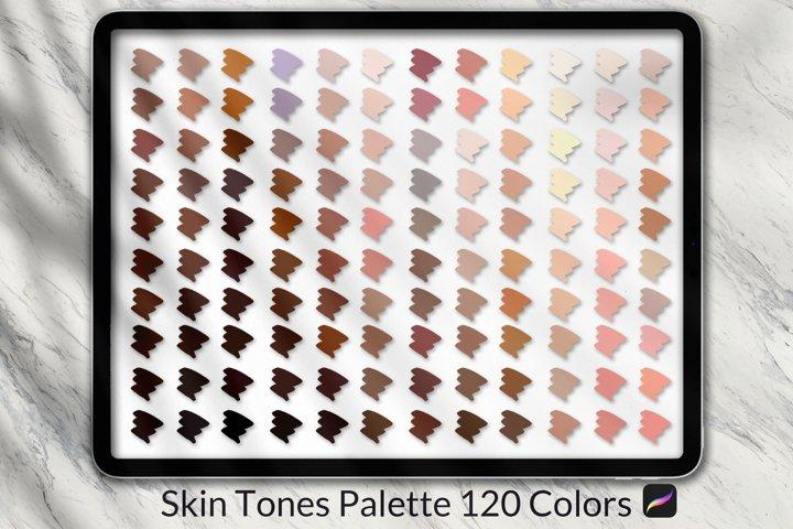 Procreate Skin Tones Color Palette