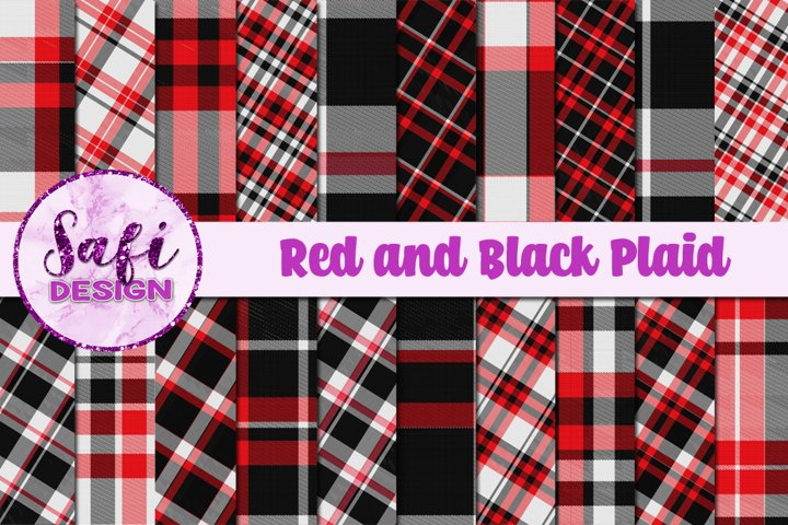 Red and Black Plaid Backgrounds