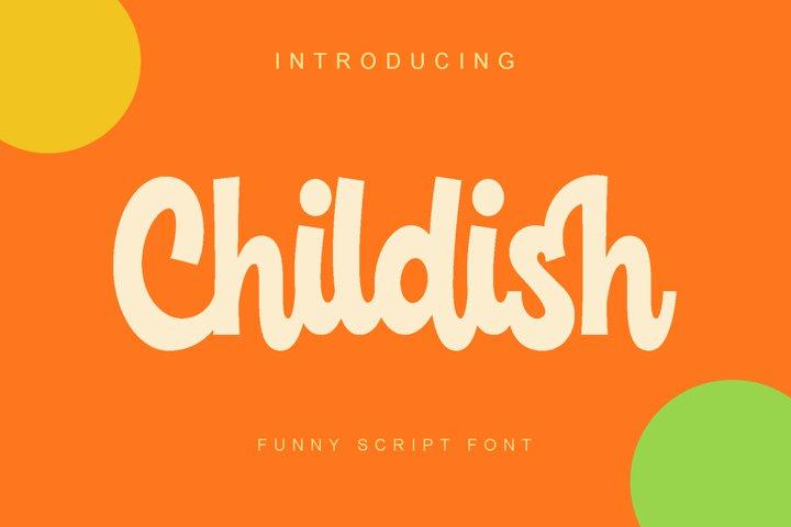 Childish -funny script font