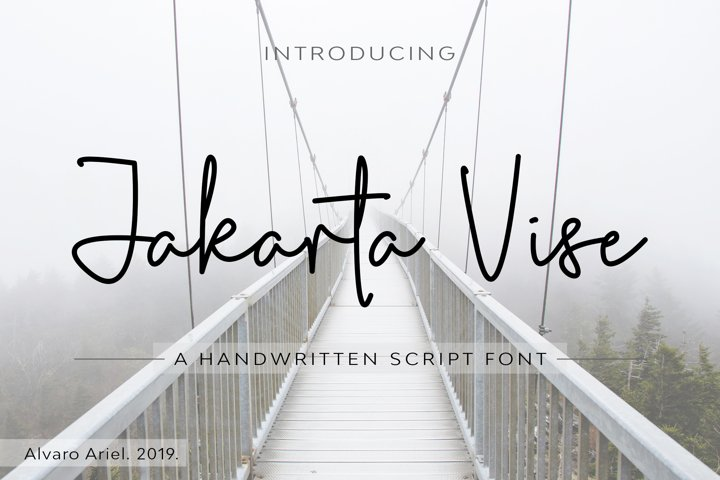 Jakarta Vise | Handwritten Script Font