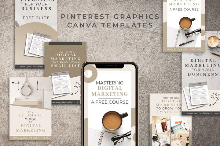 Pinterest Graphics Canva Templates   Mink