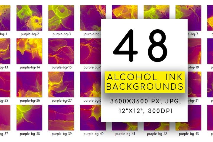Alcohol ink Background. Neon Purple Watercolor Digital Paper