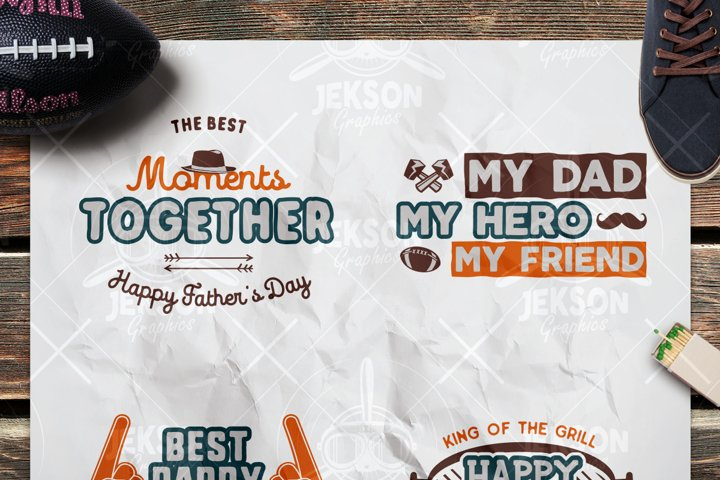 Fathers Day SVG Cut Files / My Dad My Hero Badges