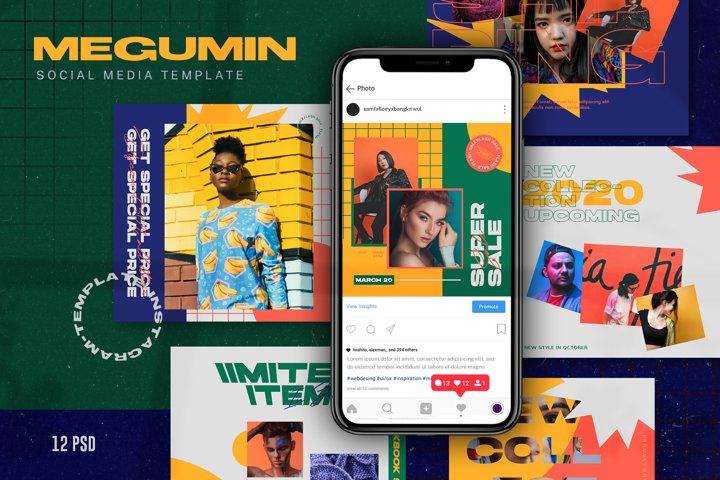 Megumin Social Media Template