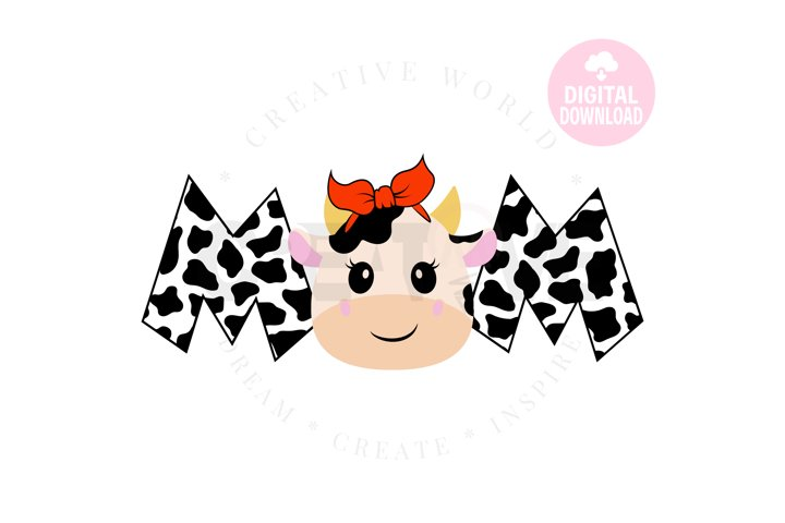 Mom of the Birthday Girl svg | Cow | Cow svg