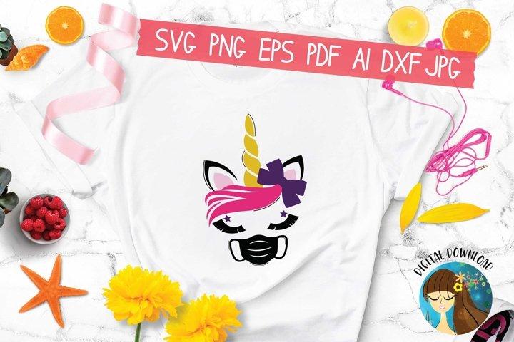 Unicorn Facemask Svg