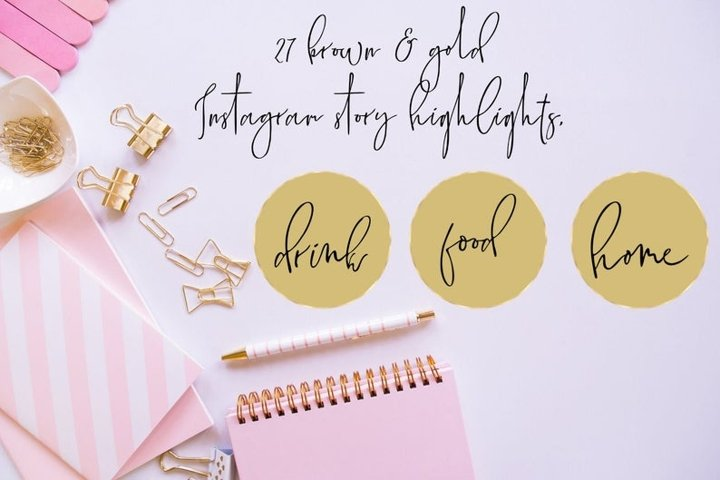 Brown Instagram Story Highlight, Instagram Elegant Cover