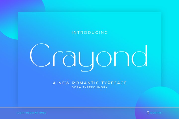 Crayond|A New Romantic Typeface