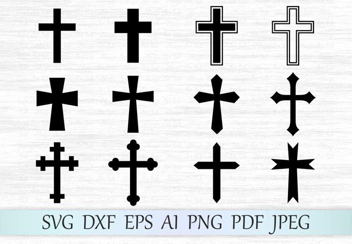 Cross svg, Cross clipart, Crosses svg file, Cross vector, Christian svg, Cross silhouette, Crosses cut files, Catholic svg