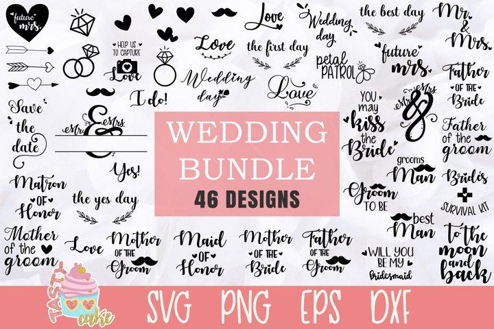 Wedding Bundle SVG - 46 Wedding Cut Files
