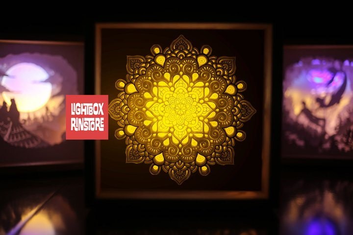 #141 Mandala Home decoration, 3d paper lightbox - resizeable