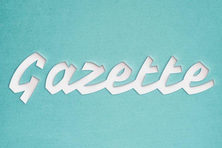 Gazette Editable Photoshop Text Style Effect