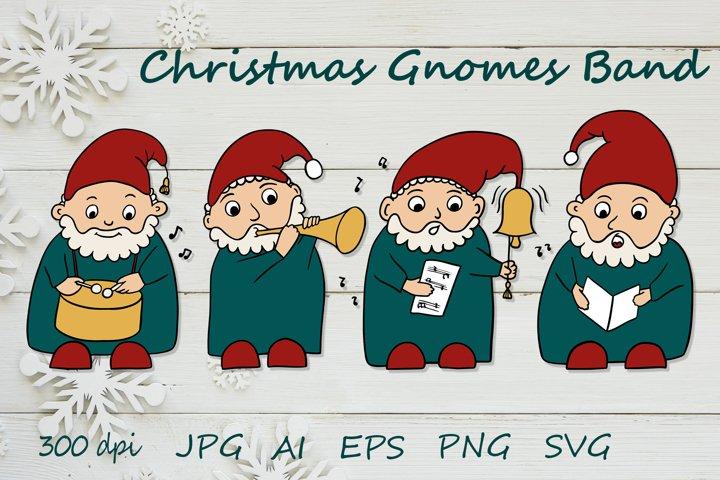 Gnomes Christmas bundle SVG - New Year gnome illustration