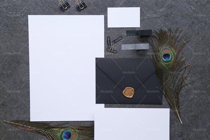 Corporate Stationery Mockup - Business Card- Black