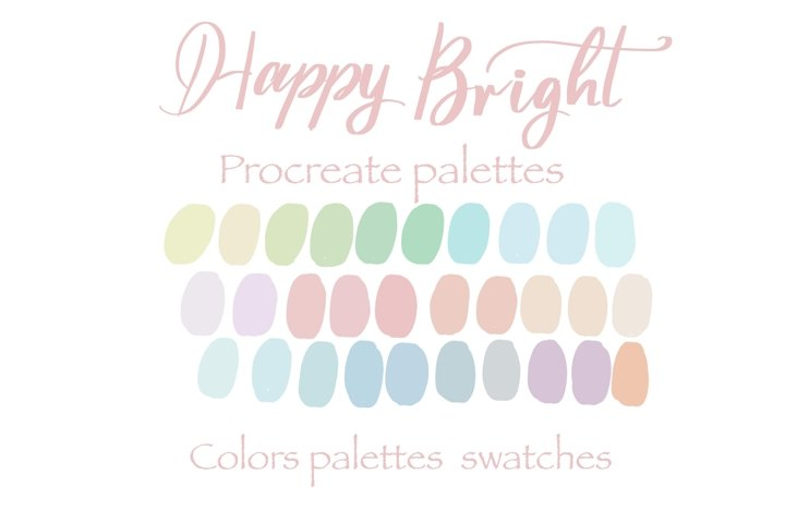 Happy Bright Procreate palettes colors