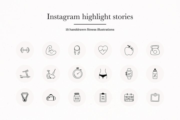Instagram Fitness Story Highlights Icons Covers
