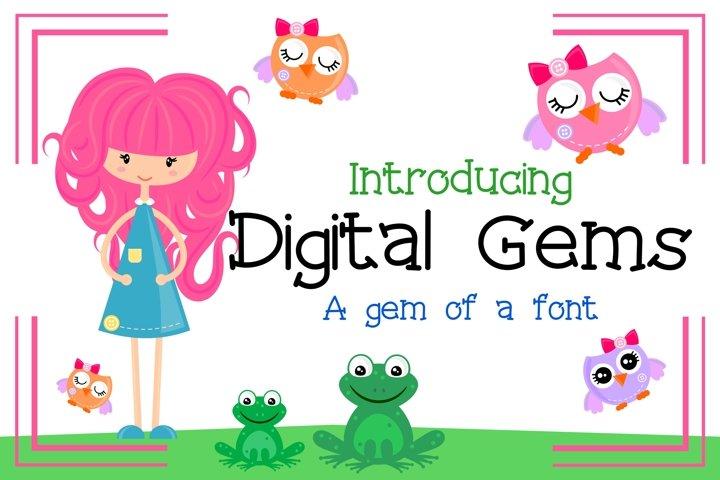 Digital Gems Font