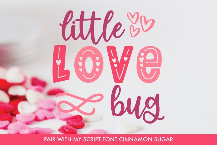 Love Struck, Thick Valentine's Heart Font - Free Font Of The Week Design3