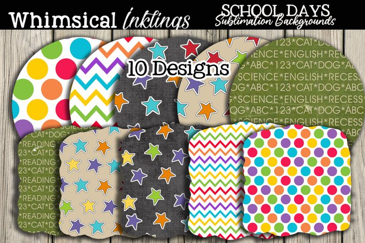 School Days Sublimation Backgrounds Pack