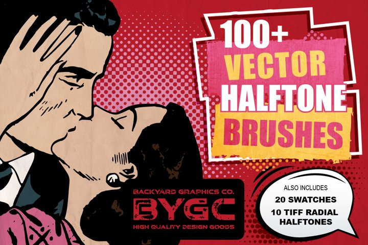 Vector Halftone Brushes