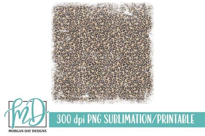 Grunge Leopard Background Printable Sublimation PNG