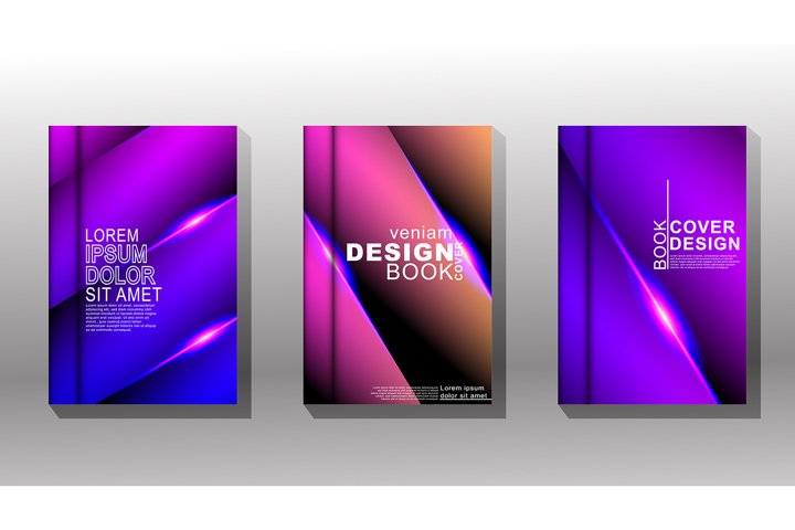 Minimal cover design. Geometric vector overlapping blue