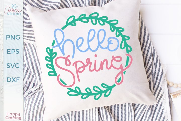 Hello Spring - A Sweet Spring SVG File example