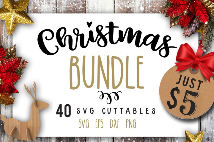 Christmas Bundle SVG bundle 40 designs Winter SVG