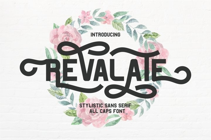 Revalate - Stylistic Sans Serif example
