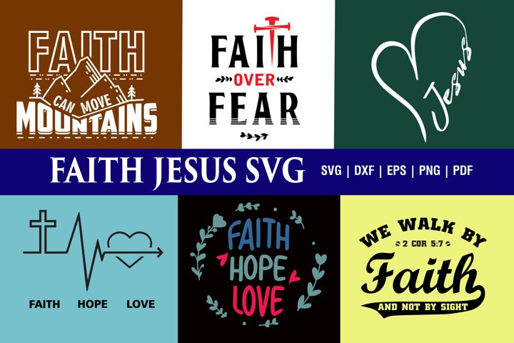 Faith Jesus SVG Bundle
