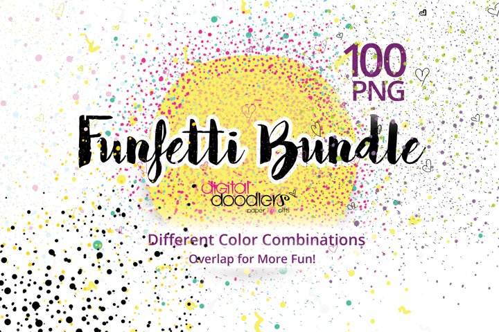 100 Funfetti PNG
