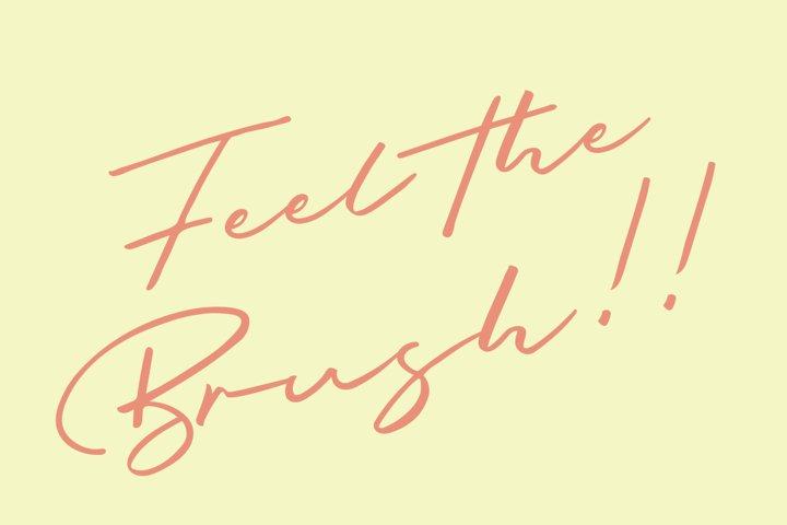 Briquete - Natural Brush Font example 4