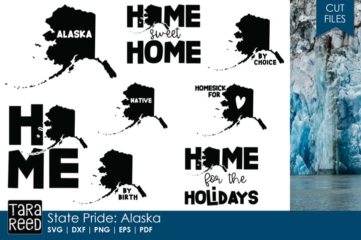 Alaska SVG and Cut Files for Crafters